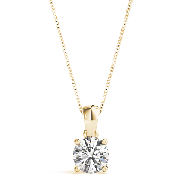 Yellow Gold Solitaire Claw Set Diamond Pendant
