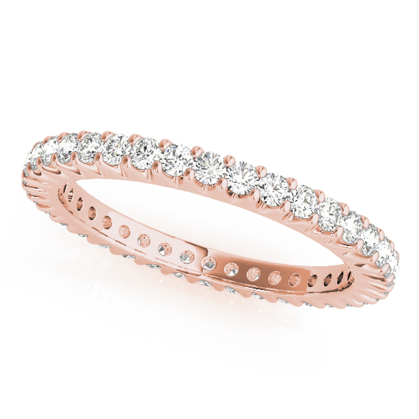 Rose Diamond Prong Set Eternity Band