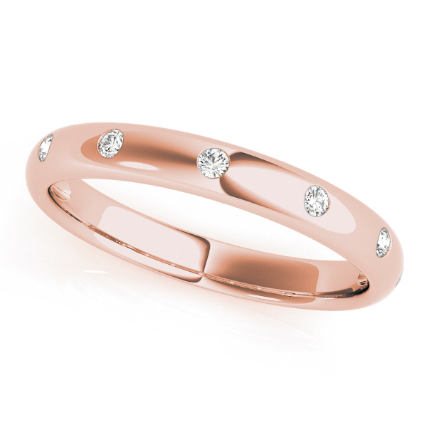 Rose Gold Inset Stationed Diamond Band