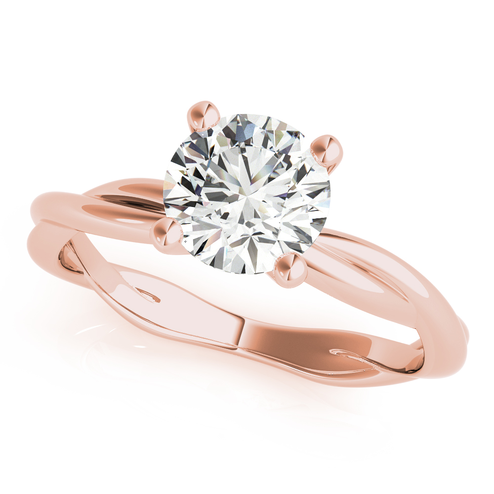 Rose Woven Band Solitaire