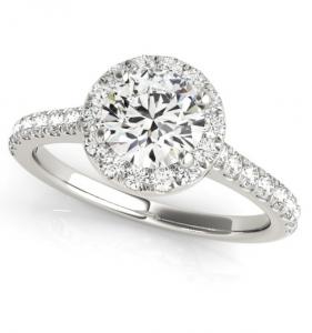 Round Brilliant Cut Halo Engagement Ring