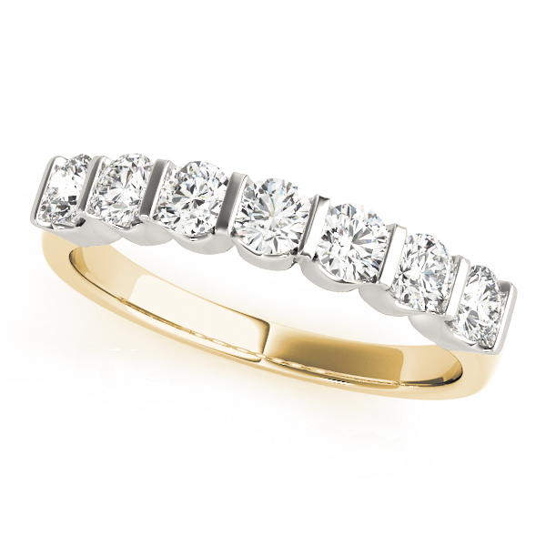 Yellow Gold Eternity Pavé band
