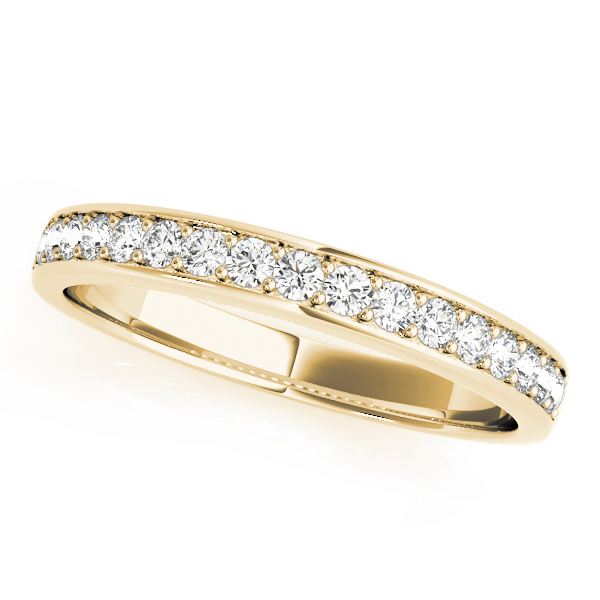 Yellow Diamond Channel Eternity Band