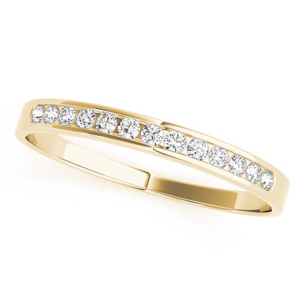 Yellow Gold Channel Diamond Set Wedding Band