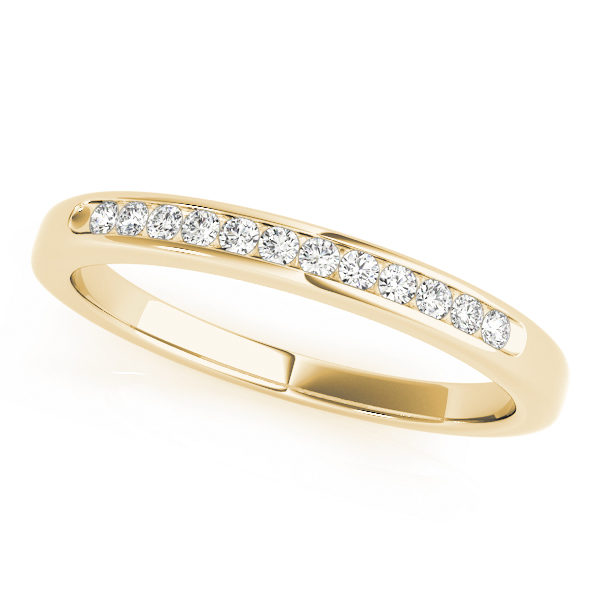 Yellow Gold Channel Diamond Set Wedding Band