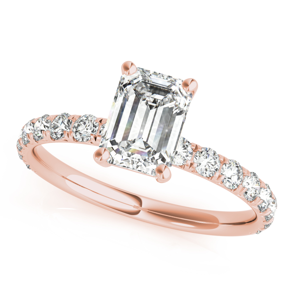 Rose Vintage Detail Engagement Ring